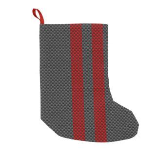 Kohlenstoff-Faser-Art Burgunders rote, die Kleiner Weihnachtsstrumpf