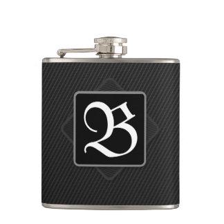Kohlenstoff-Faser-Monogramm-Flasche Flachmann