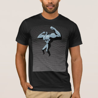 Kohlenstoff-Faserblick Bodybuilder T-Shirt