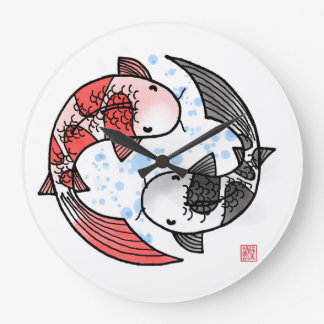 Koi Fisch-große Uhr