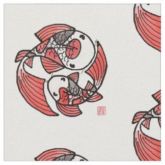 Koi Fisch-Motiv-Gewebe Stoff