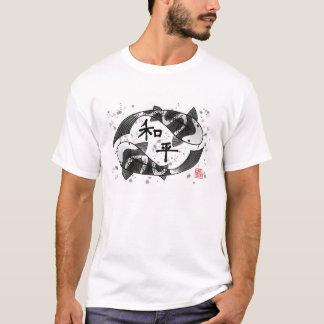 Koi Fische mit Friedenscharakter-T - Shirt