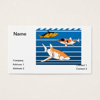 Koi Haifische Visitenkarte