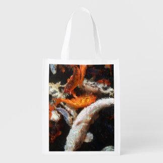 Koi Karpfen-wiederverwendbare Tasche Wiederverwendbare Einkaufstasche
