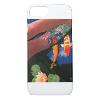 Koi Tätowierungs-Lilien-Teich-Telefon-Kasten iPhone 7 Hülle