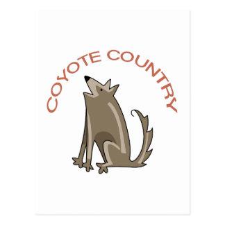 Kojote-Land Postkarte