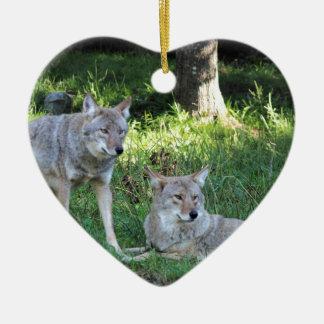 Kojote-Sammlung Keramik Herz-Ornament