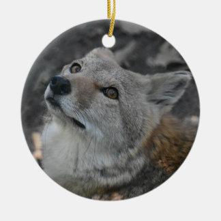 Kojote-Verzierung Rundes Keramik Ornament