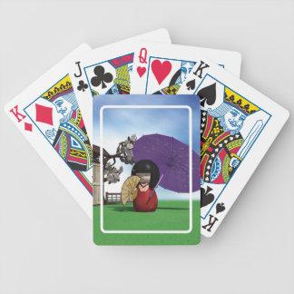 Kokeshi Puppe Poker Karten