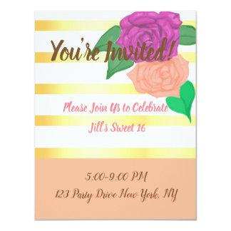 Kokette Blumen-Einladungen des Bonbon-16 Karte