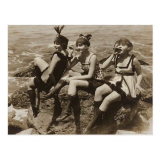 Kokette Vintage französische Postkarte