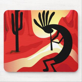 Kokopelli Wüsten-Sonnenuntergang-Südwesten Mousepads