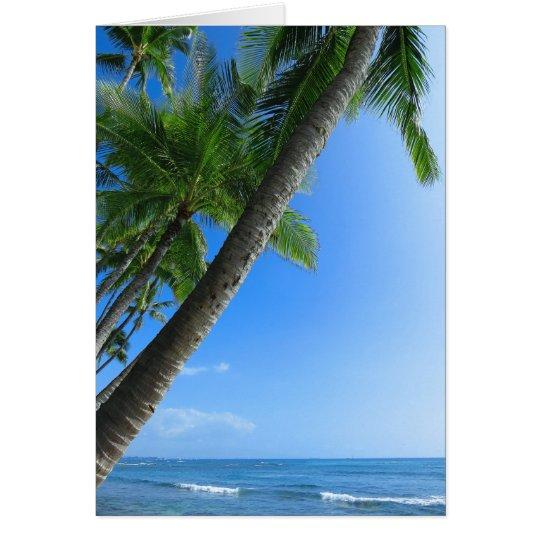 Kokosnuss-Palmen Grußkarte