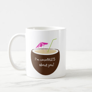 Kokosnüsse über Sie! Kaffeetasse