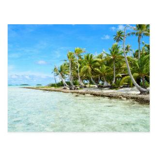 Kokosnussstrandpostkarte Postkarte