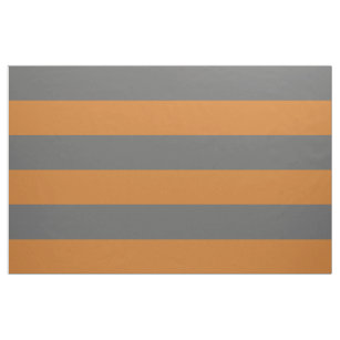 Koksgrauer und orange breiter Streifen-großer Stoff