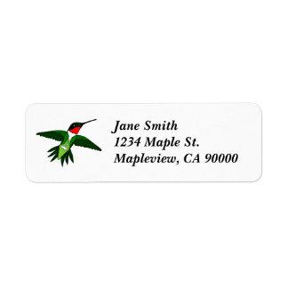 Kolibri-Adressen-Etiketten