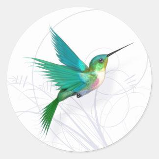 Kolibri-Aufkleber Runder Aufkleber