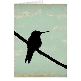 Kolibri Blau Schmutz, Gute Besserung Karte