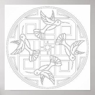 Kolibri-Farbe der OrnaMENTALs-#0021 Ihre Selbst Poster