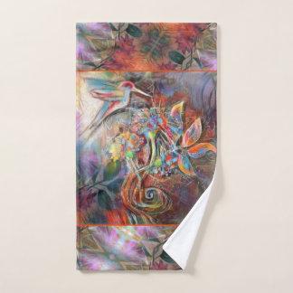 Kolibri-Flug-weiche Pastell-Kunst Badhandtuch Set