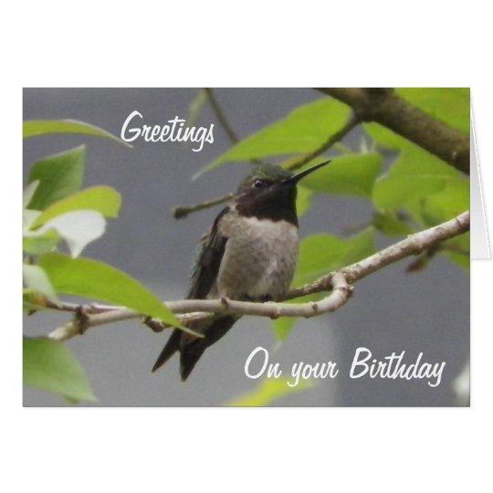 Kolibri-Geburtstags-Gruß-Karte Karte
