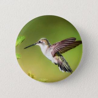 Kolibri im Flug Runder Button 5,1 Cm