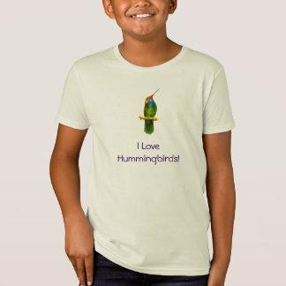 Kolibri-Kinder Kurz-sleeved Shirt