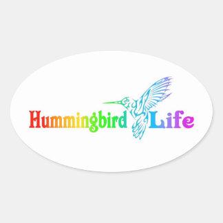 Kolibri-Leben Ovaler Aufkleber
