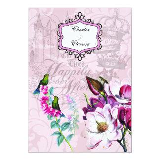 Kolibri-Magnolien-12x18, das Einladung Wedding ist Karte