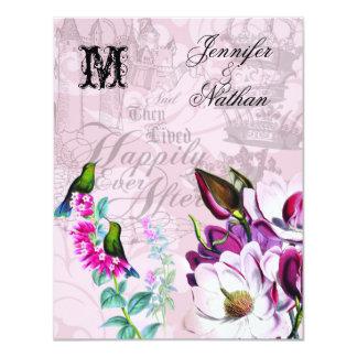 Kolibri-Magnolien, die UAWG Karte Wedding sind 10,8 X 14 Cm Einladungskarte