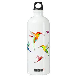 Kolibri-Menge niedlich - buntes Vogel-Aufpassen Aluminiumwasserflasche