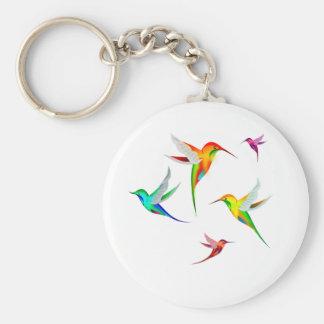 Kolibri-Menge niedlich - buntes Vogel-Aufpassen Schlüsselanhänger