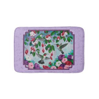 Kolibri-rosa pinkfarbener Blumen-Lavendel Badematte
