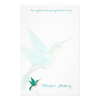 Kolibri-Strudel-Briefpapier Briefpapier
