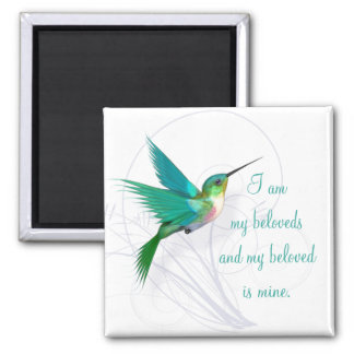 Kolibri-Strudel-Magnet ~ mein geliebtes Quadratischer Magnet