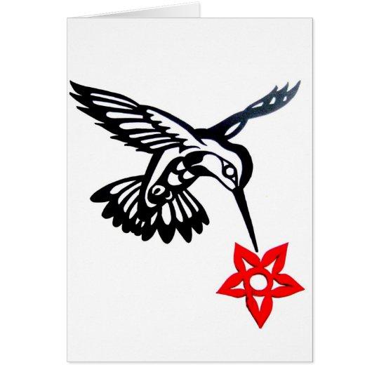 Kolibri u. Blume Grußkarte