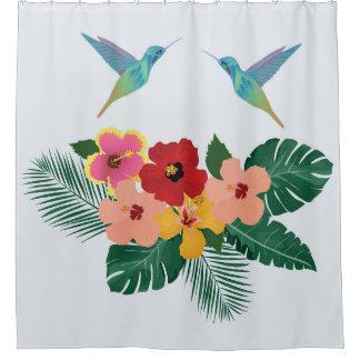 Kolibri-und Blumen-Duschvorhang Duschvorhang