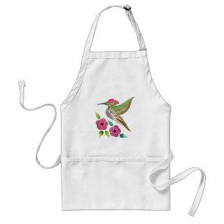 Kolibri-und Petunie-abstrakte Malerei Schürze