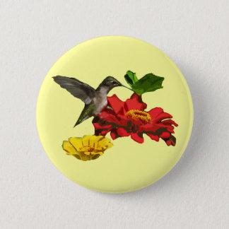 Kolibri und Zinnias Runder Button 5,1 Cm