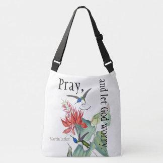Kolibri-Vogel-Blumen beten Schulter-Taschen-Tasche Tragetaschen Mit Langen Trägern