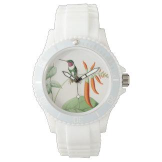Kolibri-Vogel-Tier-Blumen-Tiere mit Blumen Armbanduhr