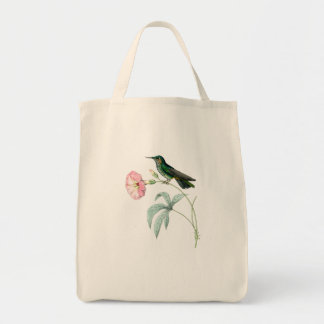 Kolibri-Vogel-Tier-Tier-Blumen mit Blumen Tragetasche
