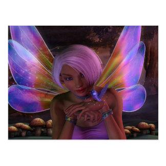 Kolibri-Wächter-feenhafte Fantasie-Kunst Postkarten