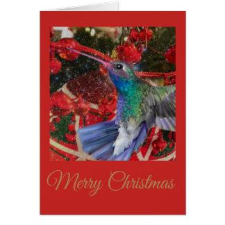 Kolibri-Weihnachten Karte