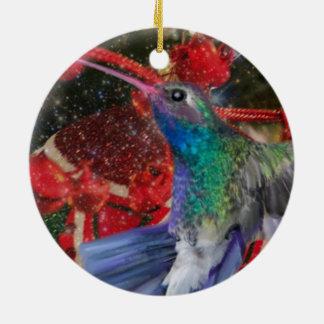 Kolibri-Weihnachten Keramik Ornament