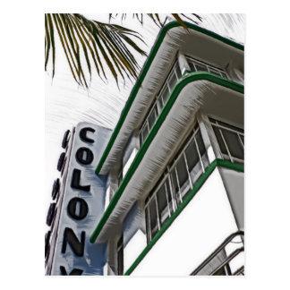 Kolonien-Hotel, Miami Postkarte