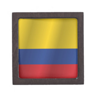 Kolumbien-Flagge Kiste