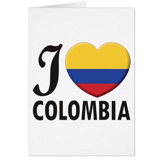 Kolumbien-Liebe Grußkarte