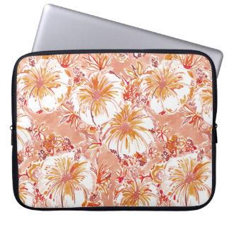 KOMBUCHA-CHA Pfirsich-tropisches Hibiskus-Muster Laptopschutzhülle